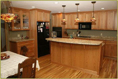 Oak Cabinets Granite Countertops Your Home Improvements Kitchen Colors With Oak Cabinets And Black Countertops