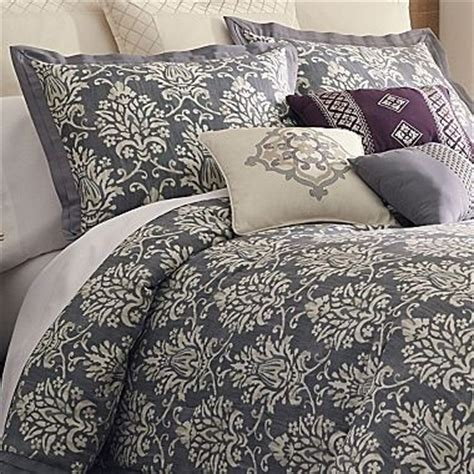 grey damask comforter grey and cream damask bed set pillows pinterest