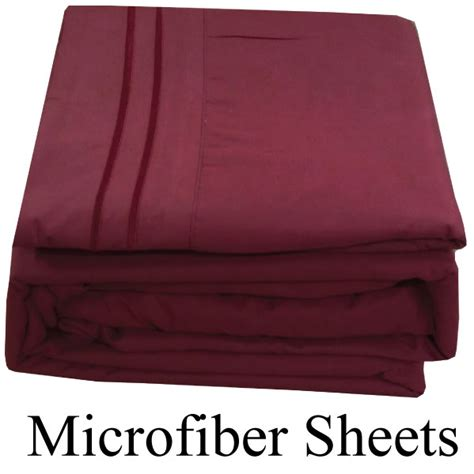 Best Deep Pocket Sheets | burgundy color microfiber sheets king size deep pocket