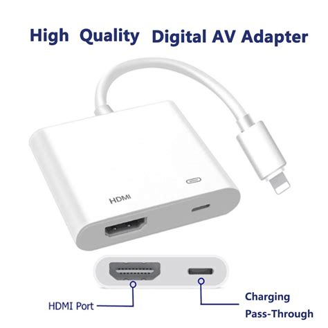 For Iphone To Hdmi Adapter Cable W End 7 28 2021 12 00 Am