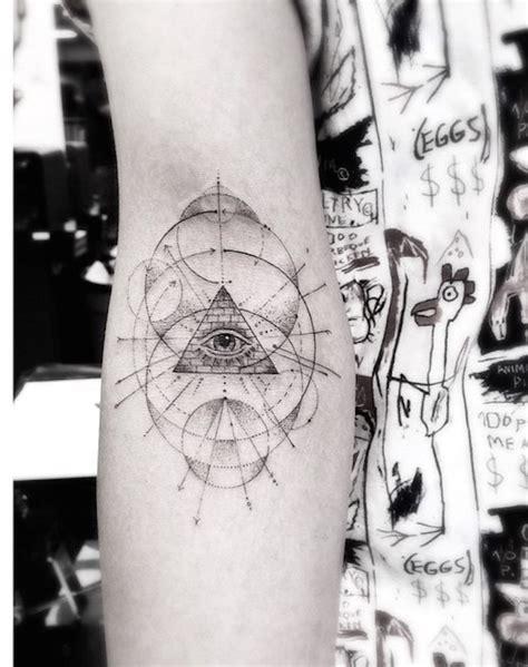 elegant fine line geometric tattoos by dr woo colossal elegant geometric tattoos fubiz media
