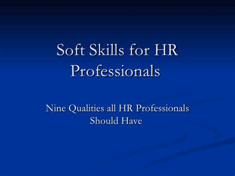 soft skills for hr professionals