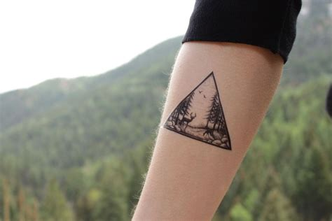easy temporary tattoo removal deer in the forest triangle temporary pine