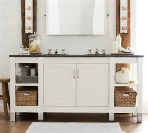 napa sink console with limestone pottery barn