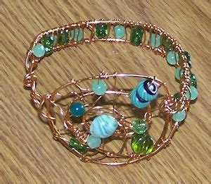 helical wire work open bangle 301 best wire wrapped bead diys images on wire