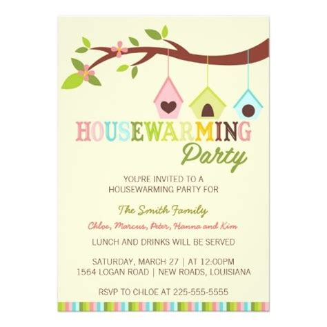 modern housewarming bird houses custom invitation house