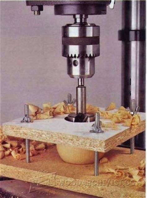 cylindrical   object drilling jig woodarchivist