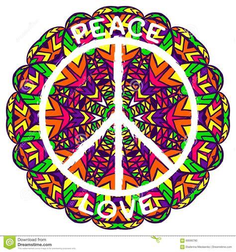 imagenes de simbolos hippies s 237 mbolo de paz del hippie paz y amor en fondo colorido