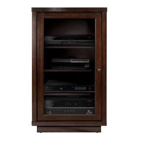 audio component cabinet espresso