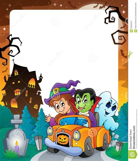 halloween themes vector halloween theme frame 5 stock photography image 33503212