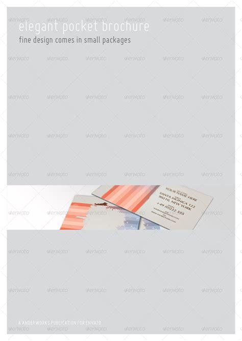 Elegant Series A6 Pocket Brochure Template By Isoarts Graphicriver Pocket Brochure Template