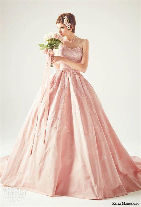 hochzeitskleid japan 桃色ラブリー ほんのりピンクカラーのweddingドレスが可愛すぎる marry マリー
