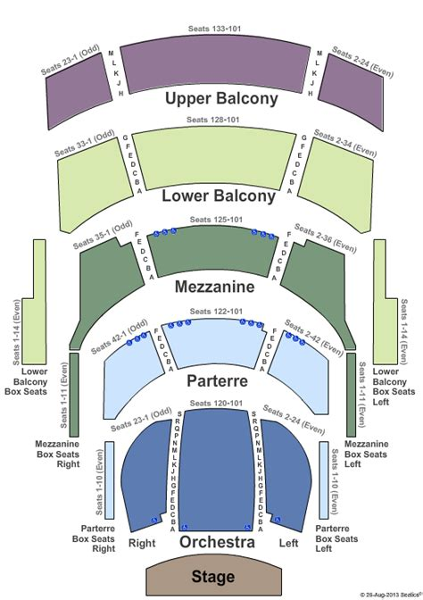 cannon center seating chart angotti cannon center for the performing arts tickets