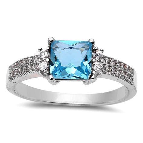 32 best beautiful princess cut aquamarine ring eternity