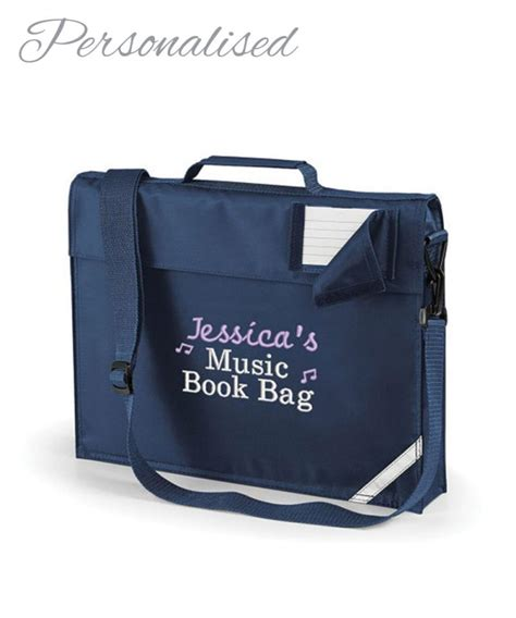 personalised music lesson book bag with your child s name