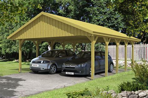 angebot carport holz carport skanholz 171 sauerland doppelcarport mit