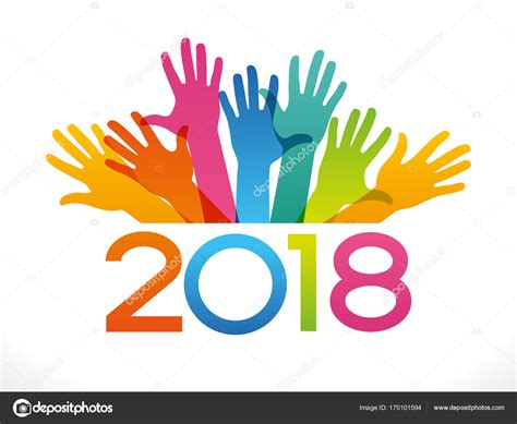 new year 2018 color vector 2018 happy new year background stock photo