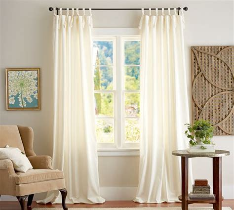 tie up curtains pottery barn cameron cotton tie top drape pottery barn master