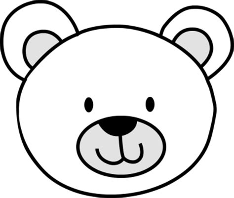 bear mask coloring page best photos of polar bear face outline teddy bear face