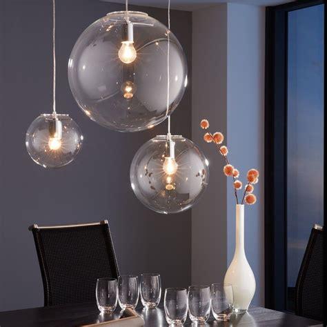 leuchten skapetze skapetze orb 30 pendelleuchte glaskugel klar chrom