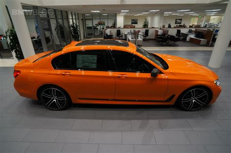 orange cars 2017 2017 bmw 750i in the unique and flashy fire orange color