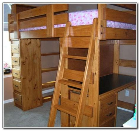 Wood Bunk Bed With Desk Wood Bunk Beds With Desk And Dresser Beds Home Furniture Bedroom Pinterest