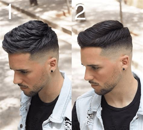 drop fade haircut  men
