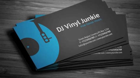 dj business cards templates vinyl dj business card template