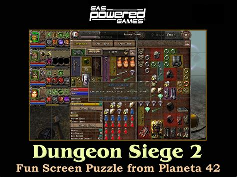 like dungeon siege 2 dungeon siege 2 screen puzzle