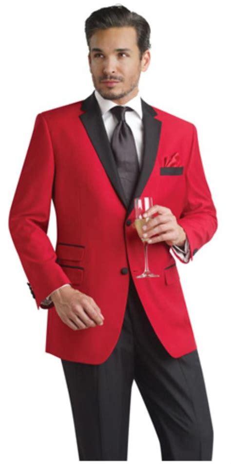 red two button notch party smoking jacket blazer tuxedo
