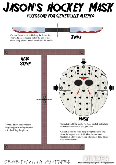 How To Make A Jason Mask Out Of Paper - paper jason vorhees mask by sinner pwa on deviantart