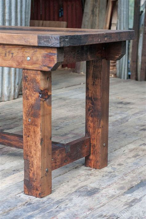 rustic industrial vintage style timber work bench  desk