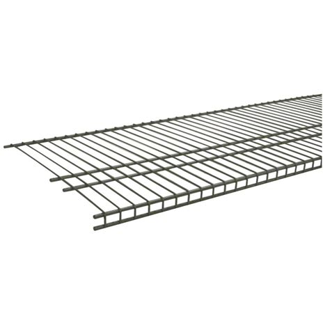 closetmaid wire shelving closetmaid superslide 4 ft x 16 in steel nickel ventilated wire shelf 34726 the home depot
