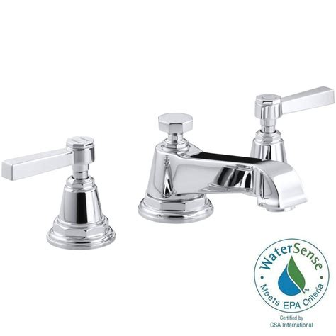 Water Saving Bathroom Faucets by Kohler Pinstripe 8 In Widespread 2 Handle Low Arc