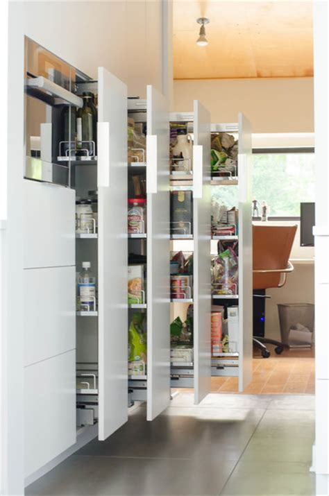 Freistehende Pantry by Contemporary Kitchen Remodel Pantry Pull Outs Modern