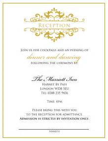 doc 12391600 wedding reception invitation templates free