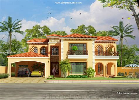 3d front elevation pakistan front elevation of house