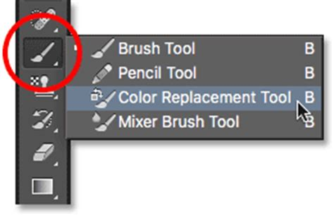 photoshop color replacement tool tutorial