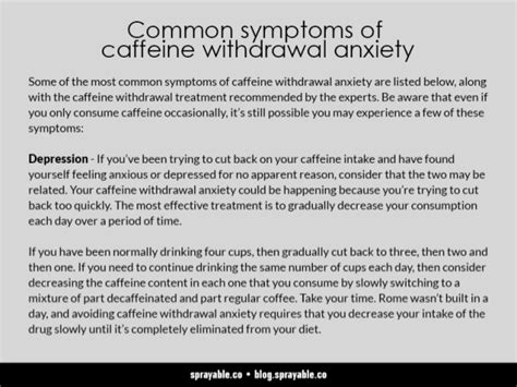 Caffeine Detox Panic Attacks by How To Treat Anxiety Due To Caffeine Withdrawal