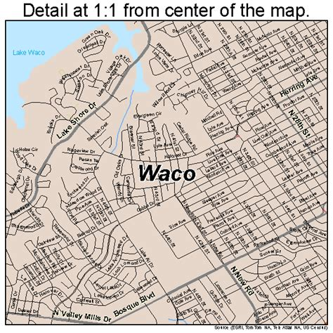 map of waco texas area waco texas map 4876000