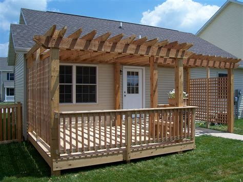 pergola over deck for the home pinterest pergolas