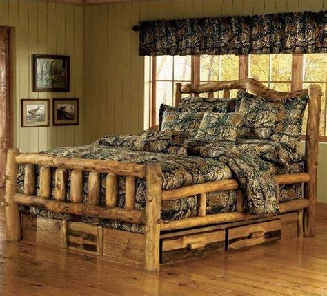 the camo shop blog rustic bedroom decorating tips from how to build a log bed tutorial home design garden