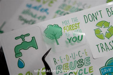 How To Make Stickers With Sticker Paper - a cherry tree how to cut clear sticker paper