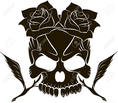 skull and roses clipart clipground