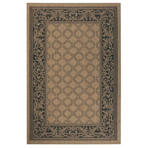 decorators collection rugs home decorators collection entwined cocoa black 5 ft 3 in x 7 ft 6 in area rug 3410140830