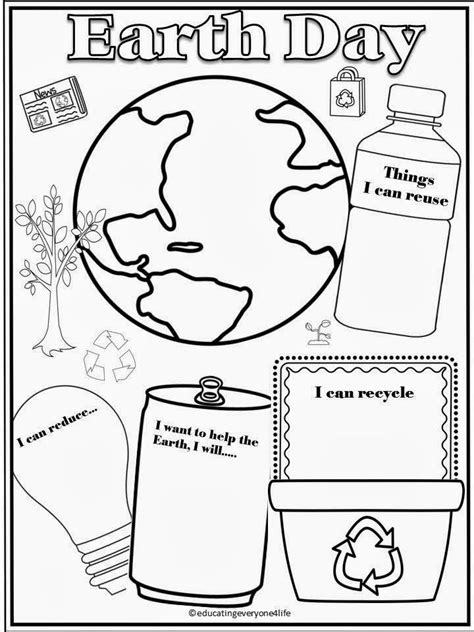 earth day activity sheets coloring home