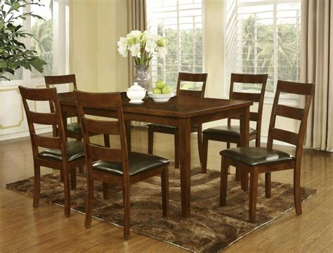 dining room table and 6 dining wood table and 6 chairs gtu 3355 dining room
