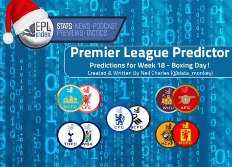 epl boxing day schedule prediction model forecasts arsenal chelsea man utd to