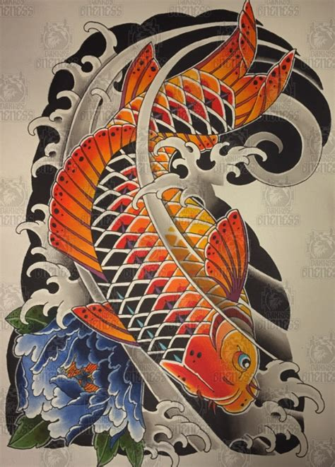 koi 2 tattoo by vincent penning darko s oneness