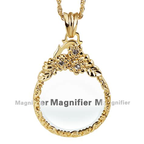 New Arrival Fashion Reading 2x Magnifying Glass Pendant Necklace aliexpress buy new arrive three pattern lead free crystals chain necklaces